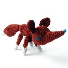 Bernard the Fox amigurumi crochet pattern by Irene Strange