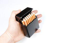 Custom Genuine Ebony Wood Case for 20X Cigarettes от iWoodShop