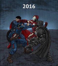 Batman vs Superman vs Iron Man vs Captain America