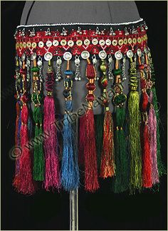 Tribe Nawaar Royal Tassels Belt Tribal Belly Dance Silk Tassel Belt A