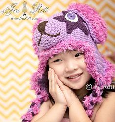 Handmade Crochet Super Star Puppy Dog Hat for all ages ( Newborn to Adult Sizes ) Crochet Animal Hats, Crochet Adult Hat, Crochet Baby, Puppy Hats, Halloween Hats, Ear Hats, Animal Ears, Super Star, Dogs And Puppies