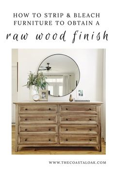 refinishing furniture How to strip and bleach furniture to obtain a raw wood finish. This tutorial transforms stained and painted furniture into natural wood furniture and gives them a new look. Oak Bedroom Furniture, Farmhouse Furniture, New Furniture, Furniture Projects, Furniture Design, Coastal Furniture, Furniture Layout, Bedroom Decor, Furniture Outlet