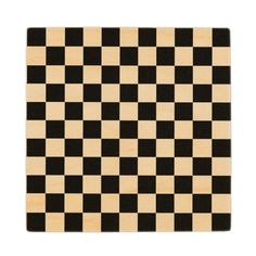 Checkerboard pattern, grid pattern, black squares wooden coaster