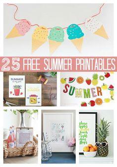 25 Free Summer Print