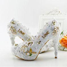 Vestidos De Casamento Rendas Lilás Cinderela Sapatos Strass Nupcial Da Dama De Honra Sapatos De Casamento 2017 Prom Night Club Night Party Super Salto