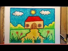 Ideas Camping Art Projects For Kids Easy Diy Scenery Drawing For Kids, Easy Drawings For Kids, Cute Drawings, Easy Painting For Kids, Art For Kids, Projects For Kids, Art Projects, Crafts For Kids, Kids Clay