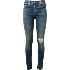 Rag & Bone Rag&Bone Skinny Jeans (3.640 ARS) ❤ liked on Polyvore featuring jeans, zipper skinny jeans, skinny leg jeans, high-waisted jeans, 5 pocket jeans and high rise skinny jeans