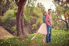 Rustic engagement photo shoot set at the Leo Carrillo Ranch in Carlsbad, California.