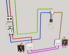 Electrical wiring is an electrical installation of cabling and associated devices such as switches, distribution boards, sockets, and light fittings in a Electrical Layout, Electrical Plan, Electrical Wiring Diagram, Electrical Projects, Electrical Installation, Electrical Engineering, Electronics Projects, Distribution Board, House Wiring