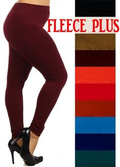 Fleece lined leggings for cute winter legging outfits! Abby + Anna's Boutique has super soft leggings that come in girls ($13), one size ($15), and plus sizes ($17). There are tons of adorable matching mother and daughter leggings too.