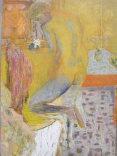 Pierre Bonnard, Back of Nude at her Bath (Yellow Nude)