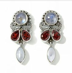 I have these NB moonstone,  garnet and pearl earrings