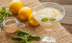 The Jaded Lady   1 ounce absinthe 1/2 ounce vodka 1/2 ounce Sauvignon Blanc 1 ounce freshly squeezed lemon juice 1 ounce lemon-parsley infused simple syrup (see ingredients below) 3 drops aromatic bitters For garnishing: 1 lemon, a few sprigs of fresh mint leaves