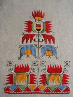 """Motif from """"kosichnik"""" hair decoration for yang woman. My work."""