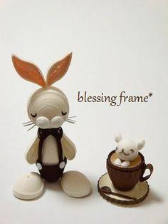 blessing frameのくいりんぐノート:無口なうさぎ。
