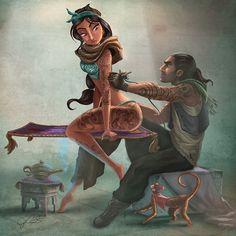 Inked Disney Princesses by Joel Santana