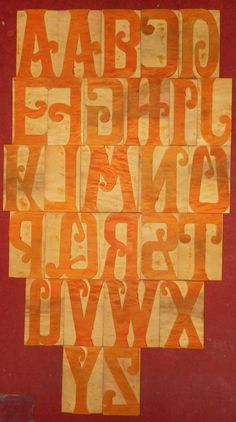 "27 Letterpress Letter Wood Type Printers Block ""A To Z"" Inches"" Types Of Wood, Printers, Letterpress, Typography, Letters, Wood Types, Printer, Letter, Letterpress Printing"