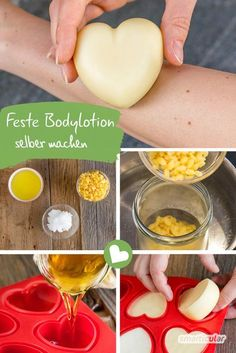 Make solid body lotion yourself from 3 ingredients - without packaging waste - # skin care . - Make solid body lotion yourself from 3 ingredients – without packaging waste – # skin care You a - Beauty Care, Diy Beauty, Beauty Hacks, Beauty Tips, Beauty Skin, Face Beauty, Beauty Products, Homemade Beauty, Body Lotion