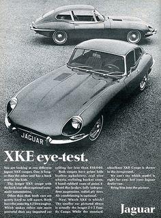 Visita www.it Jaguar XKE adv Jaguar Sport, Jaguar E Type, Jaguar Cars, Tata Motors, Sidecar, Vintage Advertisements, Vintage Ads, British Sports Cars, British Car
