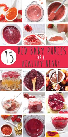 These 15 Red Baby Purees for a Healthy Heart are both yummy to eat and good for your little one's health!