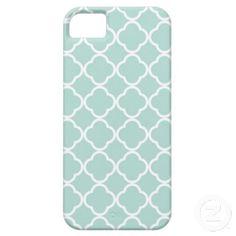 Mint Quatrefoil iPhone 5 Cover