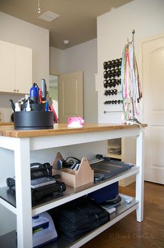 current craft room lust: ikea kitchen island.  too bad ikea does not exist here. so in love.