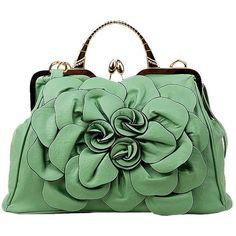Moonwind Rose Satchel Shoulder Bag Women PU Leather Frame Crossbody...