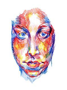 meekssketchbook:  color pencil portrait