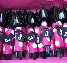 Minnie Mouse Birthday Party Cutlery by SoMuchToCelebrate on Etsy, $12.00