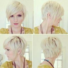 Pixie Haircut with Long Bangs {Haircuts}