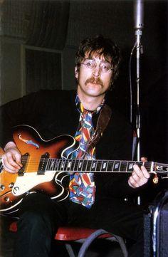 soundsof71: John Lennon March 29 1967 at work on Sgt. Pepper...