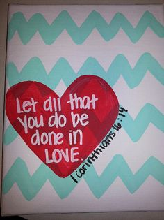 Love Canvas Painting by CraftyGirl3645 on Etsy, $12.00
