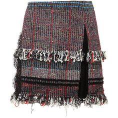 Thakoon Lace Inset Mini Skirt ($690) ❤ liked on Polyvore featuring skirts, mini skirts, black miniskirt, thakoon, short black mini skirt, bohemian skirt and short skirts