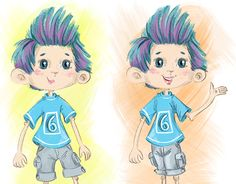 "Check out new work on my @Behance portfolio: ""illustration cute boy"" http://be.net/gallery/54926327/illustration-cute-boy"