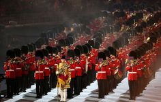 A British military marching band performed Blur song Parklife during the Closing Ceremony