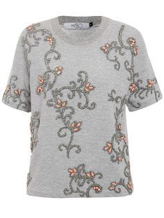 Grey Jewelled Tee