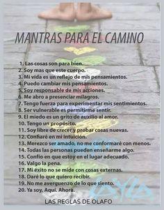 Mantras para el camino, vale la pena leer. http://www.gorditosenlucha.com/