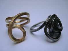 'Tangle'. 2 rings. Sterling silver.ELLA COOLEY / JEWELLERY-UK