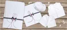 oil cloth set 6 pieces, ladopano,ladopana, λαδόπανα, set underwear baptism vaptism vaptisi Baptism Favors, Baptism Gifts, Christening Gifts, Baby Shower Gifts, Baby Gifts, Byzantine Icons, Unique Christmas Gifts, Orthodox Icons
