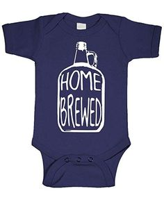 50b001dfb Amazon.com: Home Brewed - Wine Beer Brew Craft - Cotton Infant Bodysuit:  Clothing. Baby ...