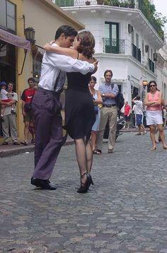 Bailarines en San Telmo