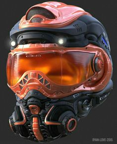 Awesome set of helmet concepts by Ryan Love! Modeled in ZBrush and rendered in KeyShot. Motogp, Tactical Helmet, Airsoft Helmet, Helmet Armor, Futuristic Armour, Custom Helmets, Sci Fi Armor, Future Soldier, Armor Concept