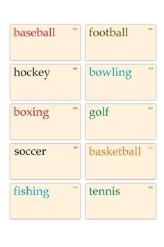 Vintage Sports Flashcards - set of 10 :: Retiring Tags :: Elle's Studio Tags :: Elle's Studio