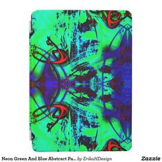 Neon Green And Blue Abstract Pattern