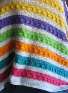 Multi Colored Knitted Afghan