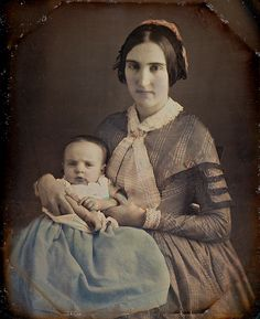 Baby in Blue, 1/6th-Plate Tinted Daguerreotype, Circa 1849 by lisby1, via Flickr