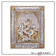 Exact copy of byzantine silver icon depicting Christ Pantocrator. Byzantine, Handmade Silver, Saints, Workshop, Greek, Icons, Traditional, Atelier, Work Shop Garage
