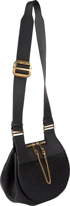 Chloé Medium Drew Saddle Bag in Black