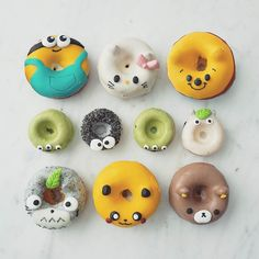How is it only half way through the week??? I need these donuts  by @eliseaki to keep me alive   How cute are they??  #foodshare #foodporn #cutefood #donuts #doughnuts #zomato #hellokitty #pikachu #minions by annachaannn