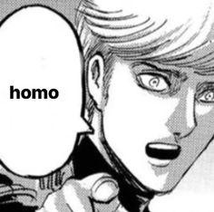Stupid Memes, Funny Memes, Anime Meme Face, Aot Memes, Levi X Eren, Funny Anime Pics, Cursed Images, Attack On Titan Anime, Meme Faces
